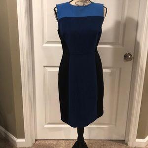 Blue/black Loft Dress size 4